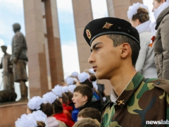 Мемориал в честь 70-летия Победы открылся на правобережье Красноярска