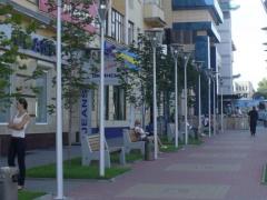 В Воронеже с использованием нашей продукции была благоустроена территория у торгово-делового комплекса «Галерея Чижова»