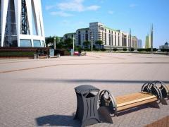 Произведена отправка крупной партии городской мебели для благоустройства территории Водно-зеленого бульвара в Астане