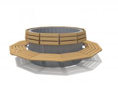 Новые модели скамеек-вазонов