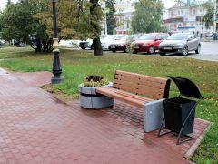 Улица Интернациональная города Тамбова благоустроена с помощью уличных диванов Д17М1