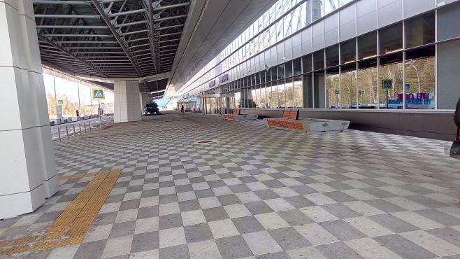 Благоустройство международного терминала в аэропорту Емельяново