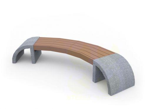 Скамья парковая C33 (С33) с бетонными боковинами