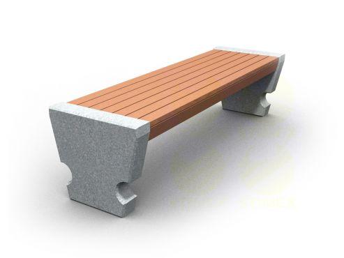 Скамья парковая C701 (С701) с бетонными боковинами