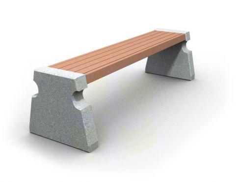Скамья парковая C702 (С702) с бетонными боковинами