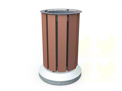 Урна для мусора уличная U14 (У14) с бетонными элементами