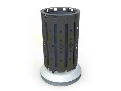 Урна для мусора уличная U14M1 (У14М1) с бетонными элементами