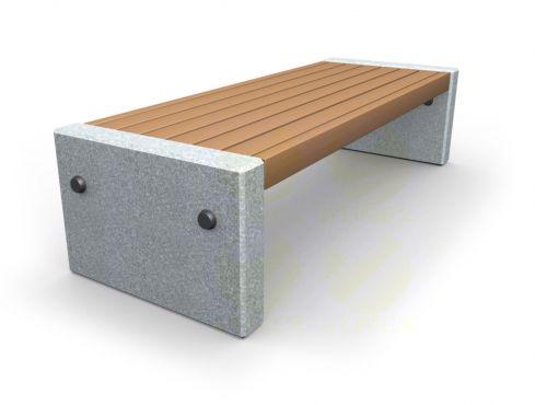 Скамья парковая C1 (С1) с бетонными боковинами