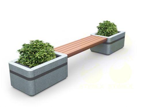 Скамья городская парковая C2 (С2) с боковинами из архитектурного бетона