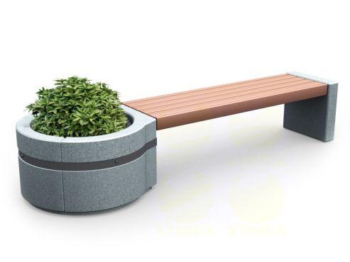 Скамья парковая C4M1 (С4М1) с бетонными боковинами