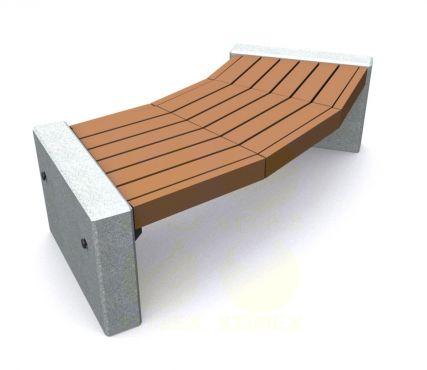 Скамья парковая C8 (С8) с бетонными боковинами