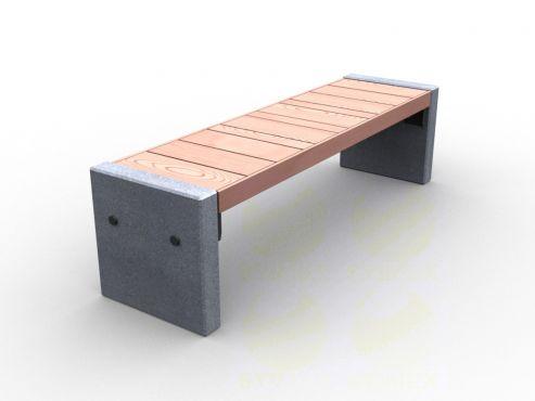 Скамья парковая C9-450mm (С9-450мм) с бетонными боковинами