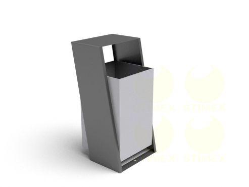 Металлическая урна для мусора уличная U255 (У255)