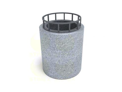 Урна для мусора уличная U750M1 (У14М1) с элементами из архитектурного бетона