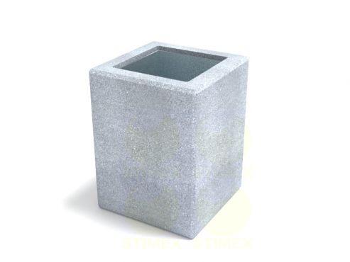 Урна для мусора уличная U755 (У755) с элементами из архитектурного бетона