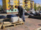 В Красноярске рядом с фонтаном Фемида установили скамью примирения.