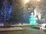 В Красноярске световые деревья оформляются с помощью тумб, производства ГК «Стимэкс»