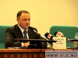 Владивосток. Глава города Игорь Пушкарев подвел итоги уходящего года