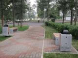 В Парке имени 1 мая в Ленинском районе Красноярска была установлена новая городская мебель