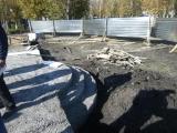 В городе Назарово Красноярского края идет сооружение памятника Марине Ладыниной