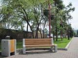 На площади имени А.П. Чехова у набережной Енисея в Красноярске была проведена замена городской уличной мебели