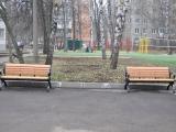 В Мытищах Московской области благоустроена прилегающая территория к школе Логос-М.