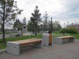 Замена уличной мебели на площади Мира в Красноярске