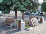 Диван городской уличный D9 (Д9) с элементами из натурального гранита