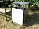 Металлическая урна для мусора уличная U300 (У300)