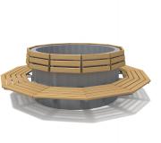 Скамья-вазон «Кольцо 1500 - 2»
