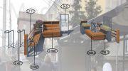 Парклет №14 для крупных транспортно-пересадочных узлов